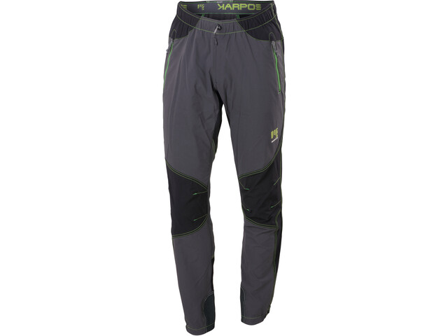 Karpos Rock Pantaloni Uomo, dark grey/black/apple green
